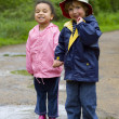 Sharing A Puddle — Stock Photo #6801724