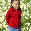 Little Girl Playing In Daffodils — Stock Photo #6802533