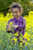 Diversión entre las flores — Foto de Stock
