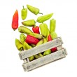 Pepper in a box isolated. — Stock Photo #7704843