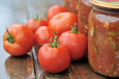 Canning tomatoes — Stock Photo