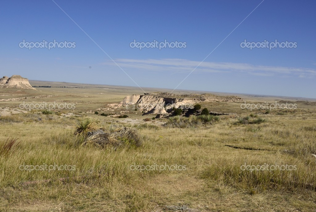 View of the prairie from a cliff — Stock Photo #6913964