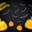 Special Halloween card with pumpkins - Vektorgrafik