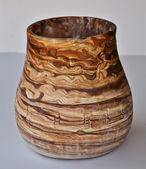 керамическая ваза с перуанской дизайн — Стоковое фото