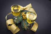 Happy New Year with champagne — Stock Photo