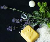 Lavanta ve minerallerle kaplıca tedavisi — Stok fotoğraf