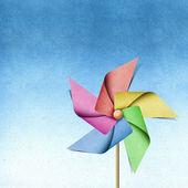 Windmill recycled papercraft — Stock Photo