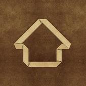Haus origami recycling papercraft — Stockfoto