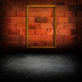 Kırmızı tuğla duvar resim çerçeveleri — Stok fotoğraf