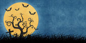 Halloween nacht gerecycleerd papercraft achtergrond — Stockfoto
