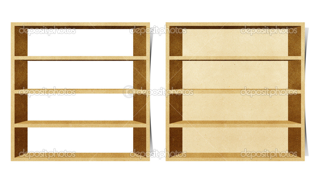 Empty shelf recycled papercraft background — Stock Photo #7100735