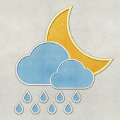 Weather recycled papercraft on paper background — Foto de Stock
