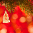 Stock Photo: Christmas tree decorations on branch