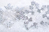 Decorations on snow — Stock Photo