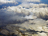 Pohled na hory alpy z oblohy — Stock fotografie