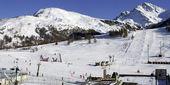 Ski pista em sestriere piemonte itália — Foto Stock