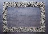 Assorted nuts ram på metall konsistens bakgrund — Stockfoto