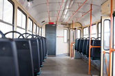 Empty tram interior — Stock Photo