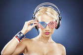 0656- Portrait of model with American inspired accessories. — Stock Photo