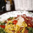 Beautiful dish of fresh taliagtelle — Stock fotografie