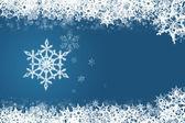 Snowflake blue — Stock Photo