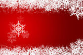 Snowflake red — Stock Photo