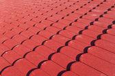 Textura de azulejos de techo rojo — Foto de Stock