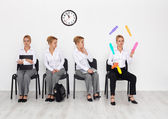 Employees with special skills wanted - job interview candidates — Stockfoto
