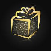 Stylizované Vánoční dárková krabička — Stock fotografie