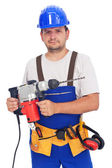 Worker with power tool — Fotografia Stock