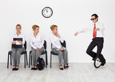Employees with special skills wanted - job interview candidates — Stock Photo