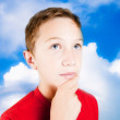 Child with the head among the clouds — Stock Photo