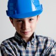 Child with blue helmet — Stock Photo