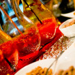 Happy hour appetizers at the cafè — Stock Photo