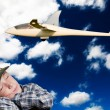 Child dreams to fly — Stock Photo #7566500
