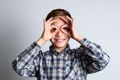 Child that the false glasses do — Stock Photo