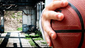 Basket - pallacanestro — Stock Photo