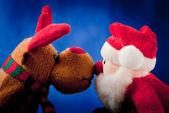 Santa claus a jeho sobi — Stock fotografie