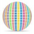 Colorful ball with equalizer ball — Stock Photo