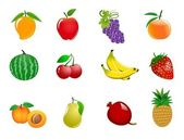 Fruit icons — Stock Photo
