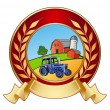 Farm banner icon — Stock Photo