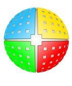 Spherical design element — Stock Photo