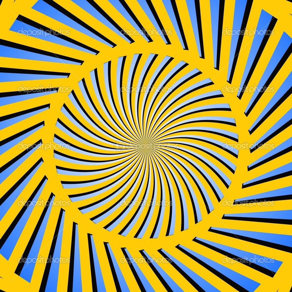 An illustration of yellow and blue color circular pattern — Stock Photo #7570968