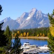 Jackson lake scenic area - Stock Photo