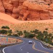 Scenic desert drive - Stock Photo