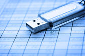 USB and data sheet — Stock Photo