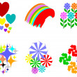 Colorful design elements - Stock Photo
