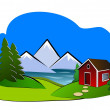 Landscape Clipart — Stock Photo