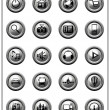 Stock Photo: Metallic Web Buttons