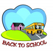 Back to school icon. — Foto de Stock